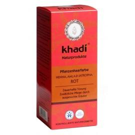 KHADI® - Tinta Vegetale Rosso con Henné, Amla e Jatropha